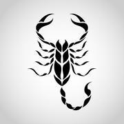 Scorpion logo - stock illustration