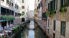 Empty canal at Venice, Italy Stock Footage
