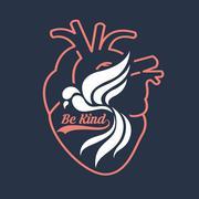 Be kind Stock Illustration