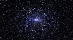 Loopable: Black Hole in Space / Spacetime Wormhole / Stars Background Stock Footage