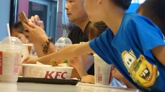 KFC restaurant in the interior of the landscape in China Stock Footage
