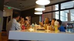 KFC restaurant in the interior of the landscape in China - stock footage
