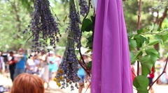 Lavender-themed event Stock Footage