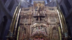 Jerusalem, Israel - Church of the Holy Sepulchre Stock Footage
