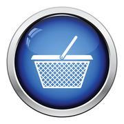 Shopping basket icon - stock illustration