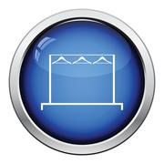 Clothing rail with hangers icon - stock illustration