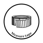 Icon of Measure tape Stock Illustration