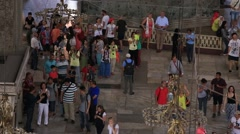 Tourists visiting the Hagia Sophia in Istanbul, Turkey. - stock footage