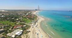 Kibbutz Sdot Yam Israel's coastline - stock footage