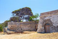 Venetian fortress Fortezza in Rethymno on Crete, Greece Stock Photos