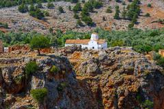 Church of Archangel Michael over Aradena George in Aradena, Crete Stock Photos