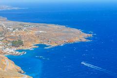 Chora Sfakion town on Crete, Greece Stock Photos
