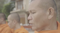 monk blessing - stock footage
