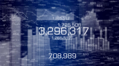 Bar graph data and charts. - stock footage