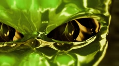 Extreme Close-Up of CGI Alien Eyes - stock footage