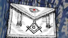 CGI Cartoon Style Freemasonic Apron Stock Footage