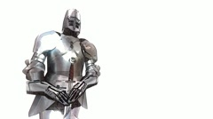 Computer Generated Cartoon Knight in Armour Stock Footage