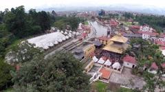 Pashupatinath drone footage Stock Footage