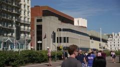 Brighton cinema by the sea Stock Footage