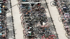 Time lapse: Dutch bicycle parking Stock Footage
