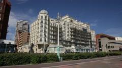 Brighton sea front architecture Stock Footage