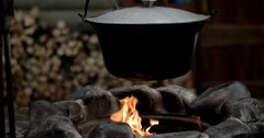 Boiling Traditional Hungarian Dish - Bogracs Goulash, Stewed Meat and Stock Footage