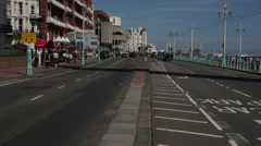 Brighton traffic at the seafront Stock Footage