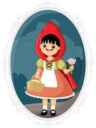 Little Red Riding Hood Vector Cartoon Stock Illustration