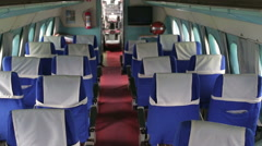The cabin of passenger aircraft, no people Stock Footage