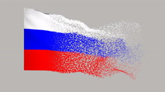Flag of Russia Stock Footage