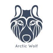 Arctic wolf logo vector Stock Illustration