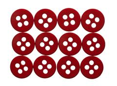 Rectangle of red buttons Stock Photos