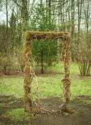 Natural arch made of branches Stock Photos