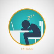 FATIGUE vector Stock Illustration