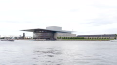 The danish operahouse is a very nice piece of architecture Stock Footage