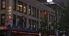Typical Business or Apartment Above a Bar and Grill in Manhattan Stock Footage
