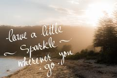 Leave A Little Sparkle wherever you Go message Stock Photos