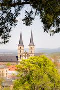 Kloster Michelsberg abbey in Bamberg - stock photo