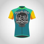 Cycling shirts design Stock Illustration