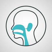 ear nose and throat logo vector - stock illustration