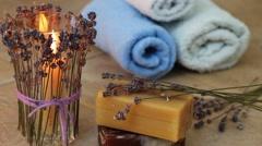 Lavender aromatherapy Stock Footage