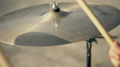 Playing drums / Cymbal - stock footage