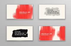 Creative business card templates. Stock Illustration