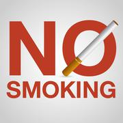 No smoking sign - stock illustration