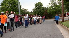 Black lives matter protest Stock Footage