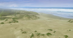 Aerial flying over ninety mile beach, northland, new zealand Stock Footage