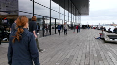 The royal danish playhouse is situated at the waterfront Stock Footage