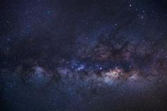 Close-up of Milky Way Galaxy,Long exposure photograph, with grain Kuvituskuvat