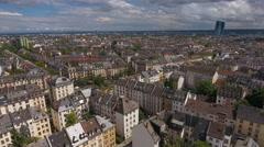 Aerial view of Frankfurt, Germany Stock Footage