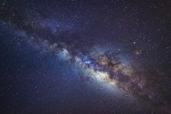The Panorama milky way galaxy.Long exposure photograph.with grain Stock Photos